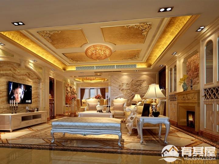 御峰园四居室家装欧式风格设计效果图