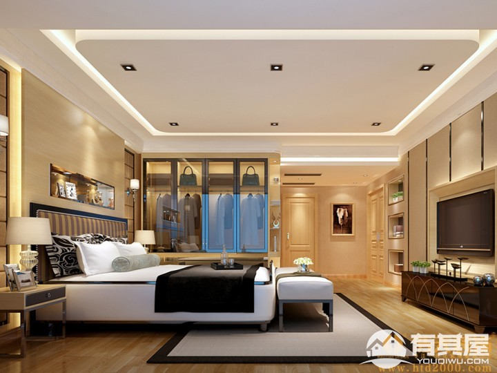 合正香蜜原著四室两厅现代简约设计效果图