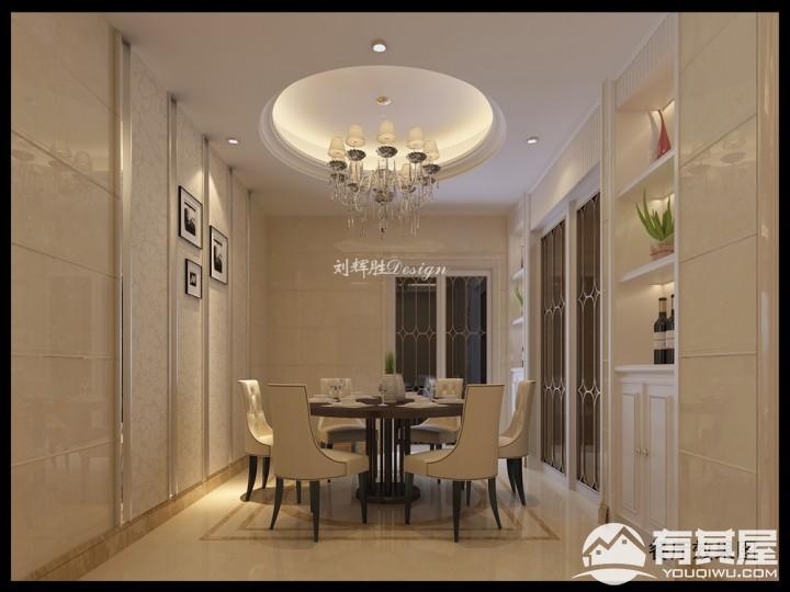 领秀城三室两厅家装现代装修设计效果图欣赏