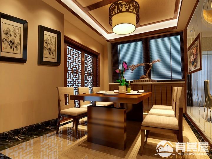 绿景虹湾四室两厅中式风格设计效果图