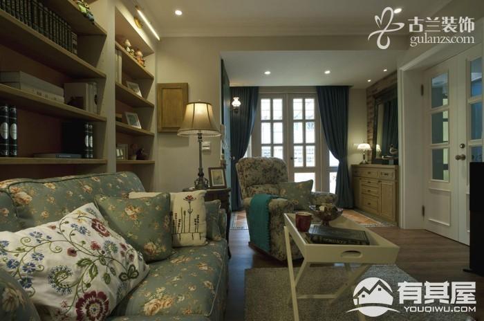 保利罗兰香谷三室两厅家装田园风格设计效果图欣赏