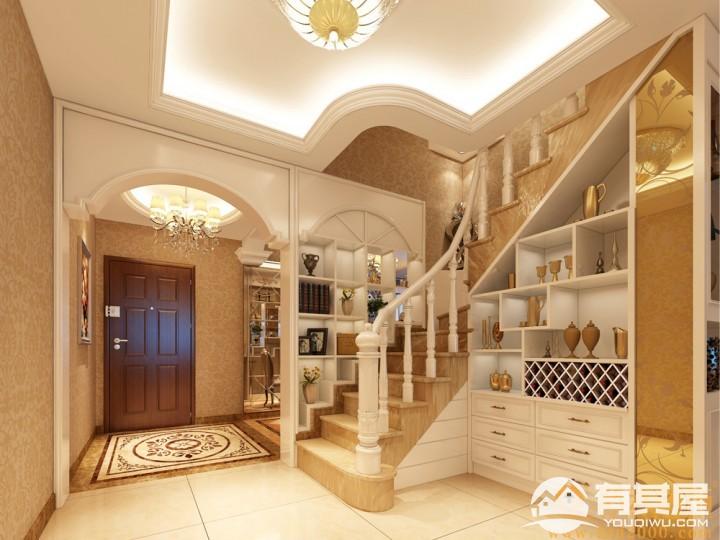 中洲中央公园豪华别墅简欧风格设计效果图