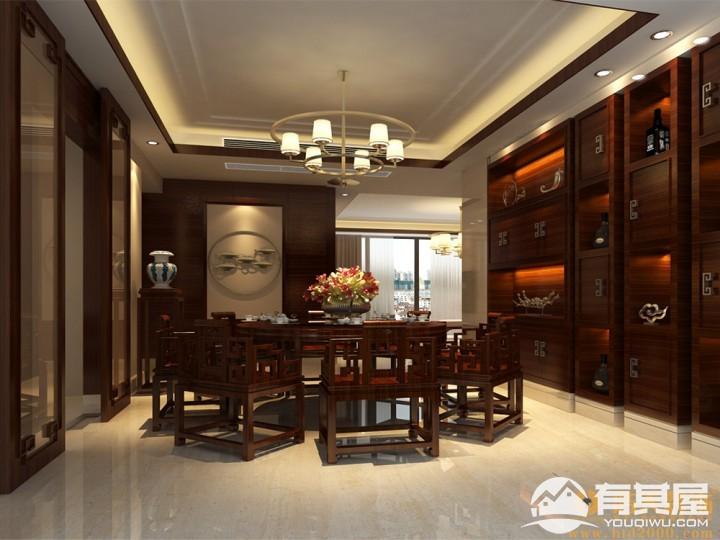 合正荣悦三室两厅家装中式风格设计效果图