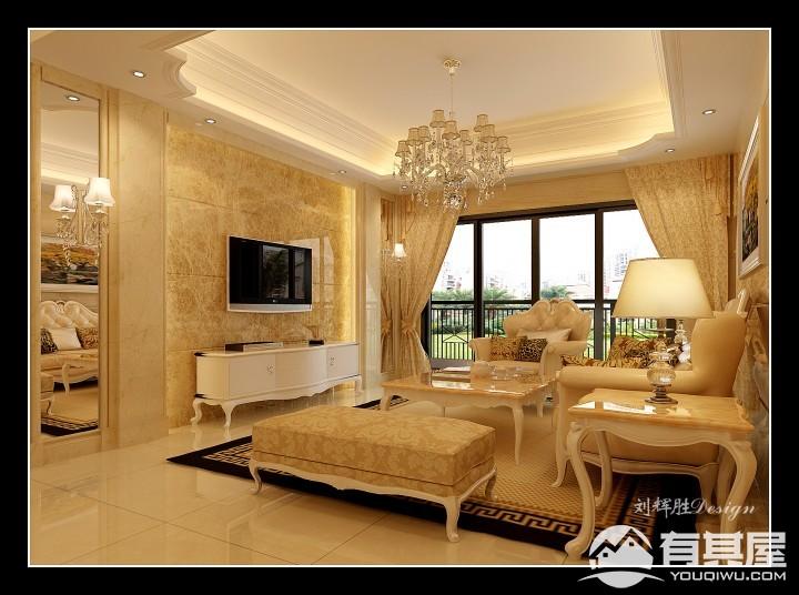 泉水湾三室两厅欧式风格设计效果图欣赏