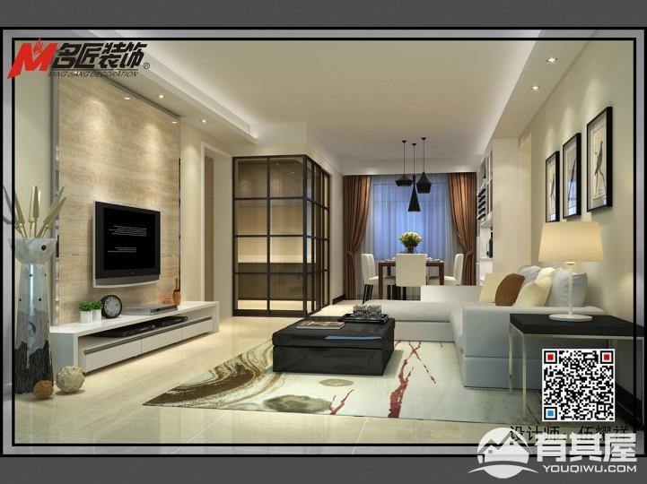 可逸江畔三室两厅现代简约风格设计效果图欣赏
