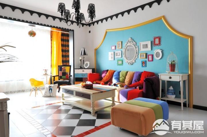 三室两厅家装混搭风格设计效果图案例欣赏
