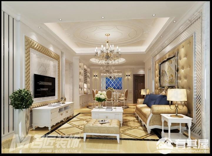 星辰时代豪庭三室两厅简欧装修设计效果图