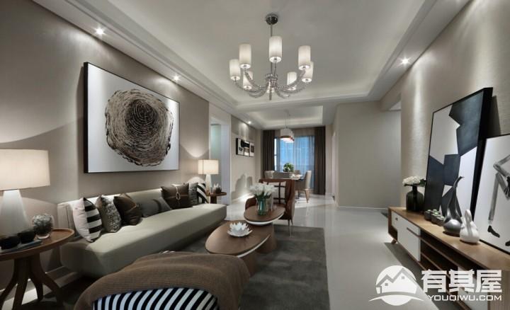 三室两厅家装现代风格设计效果图欣赏