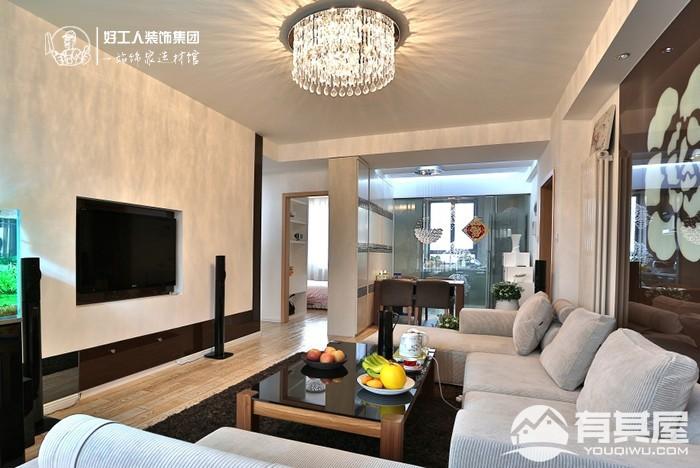 三居室家装简约风格设计效果图欣赏