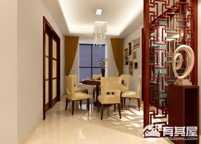 天湖城新中式风格新房装修图