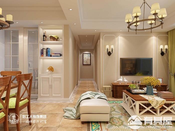 大名城两室两厅小户型美式风格设计效果图案例欣赏