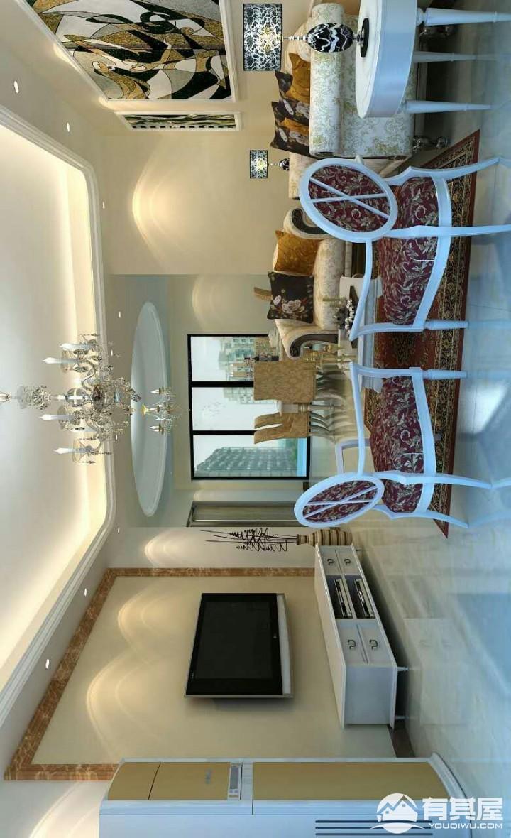宁海世纪城三室两厅简欧客厅效果图