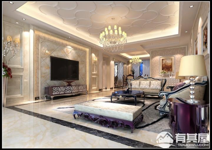 四室两厅简欧风格设计效果图欣赏