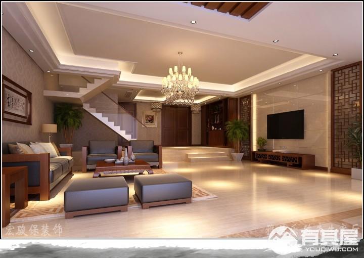 新中式复式住宅装修设计效果图欣赏