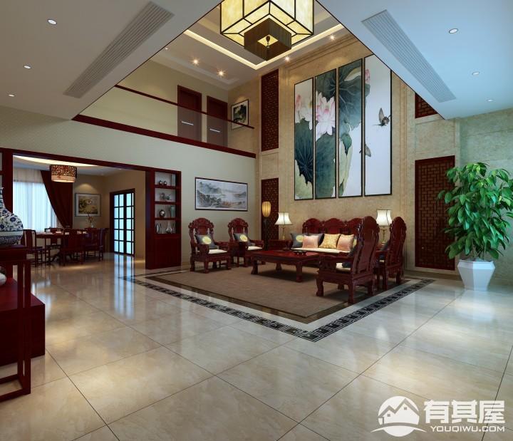 新中式别墅装修设计效果图欣赏