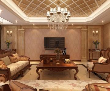 浐灞半岛复式240平欧式风格装修设计效果图案例分享