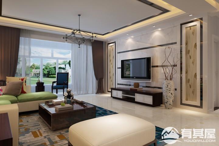 逸翠园四居室195平美式风格装修设计效果图案例分享