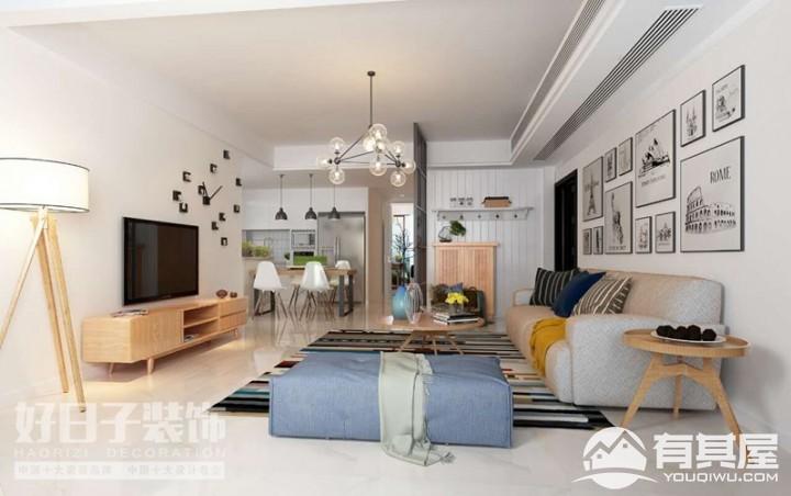 融侨观邸三室两厅北欧风格设计效果图欣赏