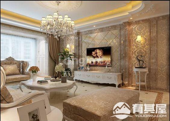 海伦春天三居室210平法式风格装修设计效果图欣赏