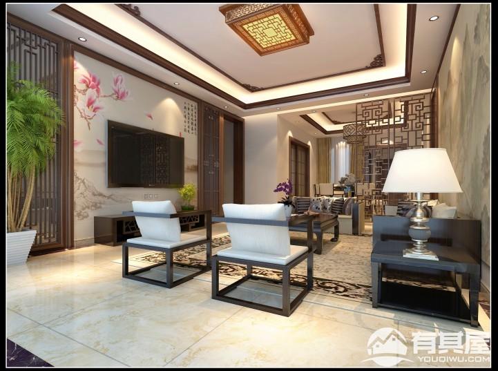 三室两厅家装中式装修设计效果图欣赏