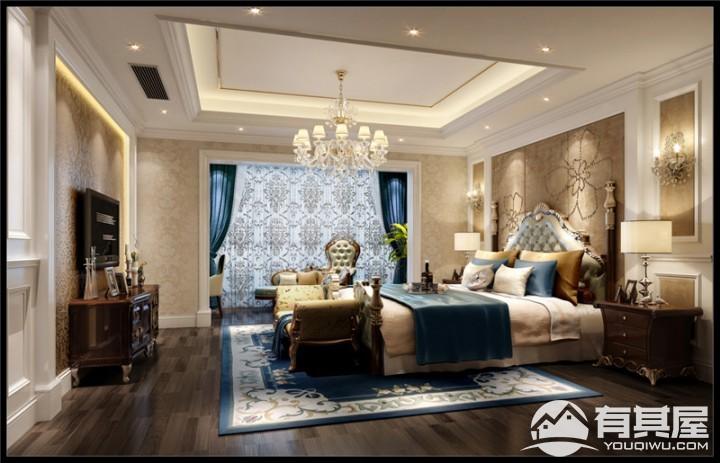 豪华别墅美式风格家居装修效果图