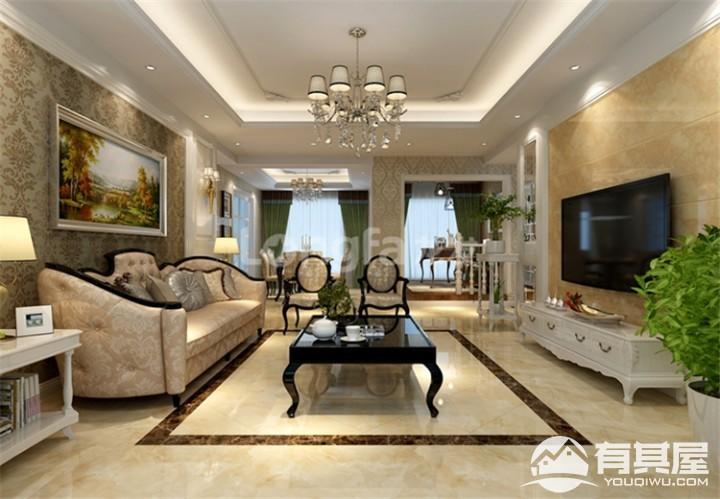 雅居乐御宾府四居室210平欧式风格装修设计效果图案例分享