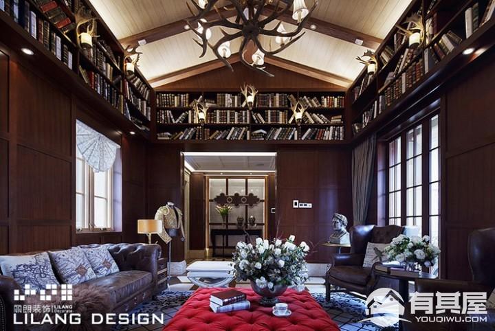 豪华别墅新中式混搭风格设计效果图欣赏