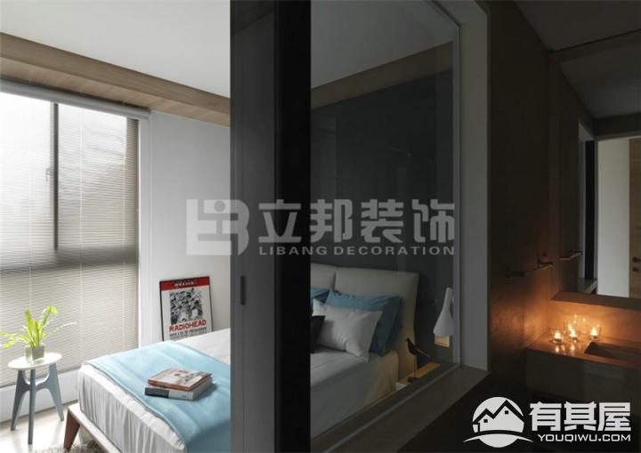 禹洲中央海岸三室两厅家装现代简约装修设计效果图欣赏