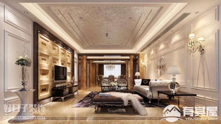 融侨观邸四室两厅欧式风格设计效果图案例欣赏
