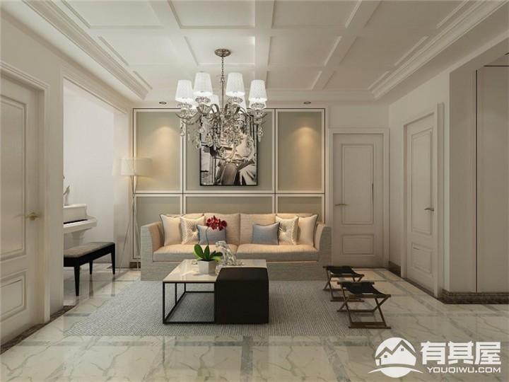 时尚现代简约风格三居室装修效果图