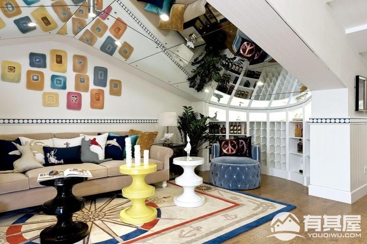 三居室地中海风格装修设计效果图