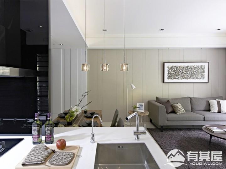 三室两厅现代简约风格效果图案例欣赏