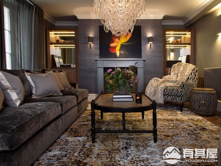 金科中心三室两厅美式装修设计效果图欣赏