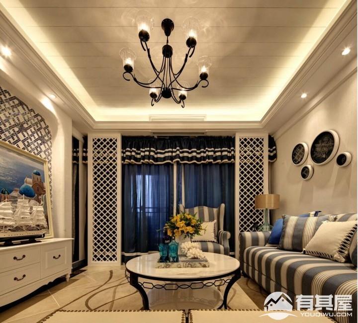 仁美大源印象三室两厅家装田园风格设计效果图