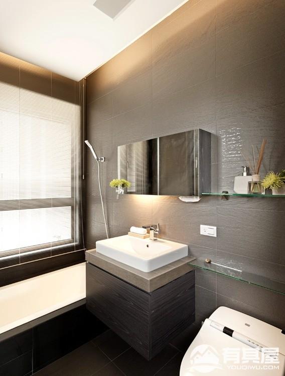华侨城三室两厅现代简约风格设计效果图