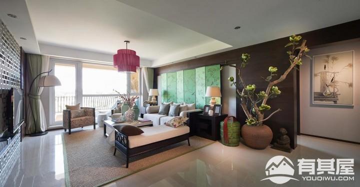 四室两厅中式风格设计效果图案例欣赏