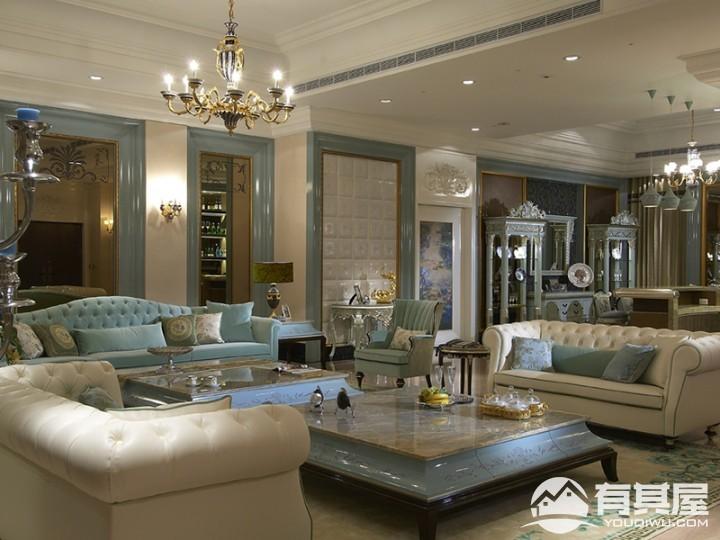 橡树林华府三居室新古典风格设计效果图欣赏
