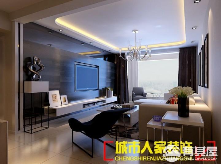 中弘中央广场129平三室两厅简约风格设计效果图欣赏