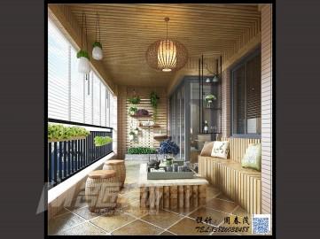 四室兩廳現代田園風格設計效果圖欣賞