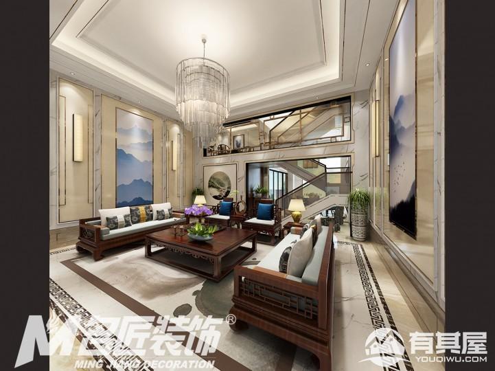 华南新城联排别墅后现代装修设计效果图欣赏
