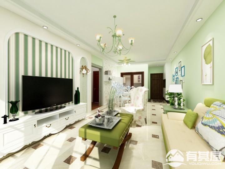 大学里122平三室两厅现代简约风格设计效果图欣赏