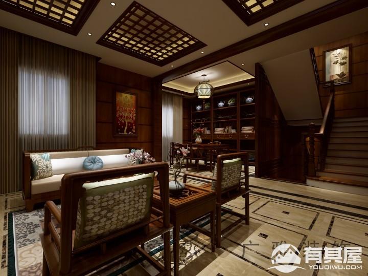古典风中式风格别墅装修效果图