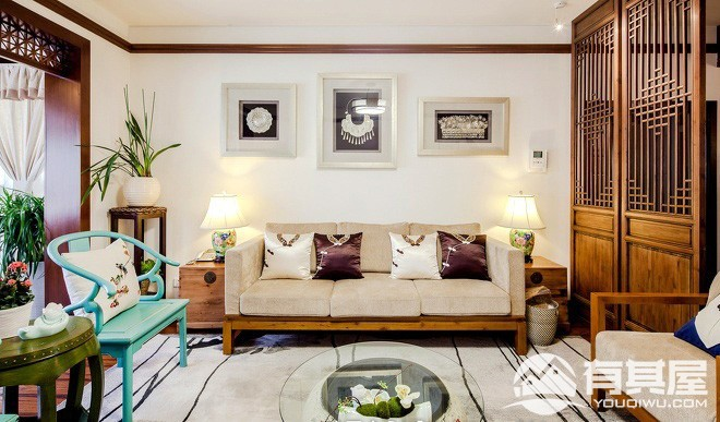 四室两厅家装中式风格设计效果图案例欣赏