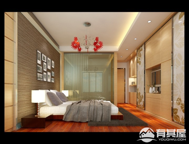 东辉广场简约风格三居室装修效果图