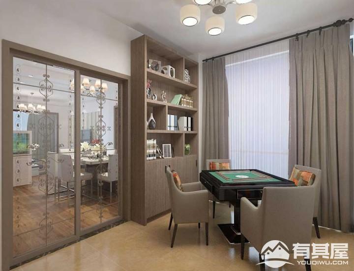 天祥棕榈湾100平米三居室现代简约风格