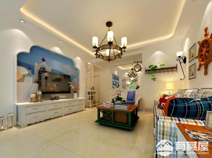 众森红谷一品110平米二居室地中海装修风格