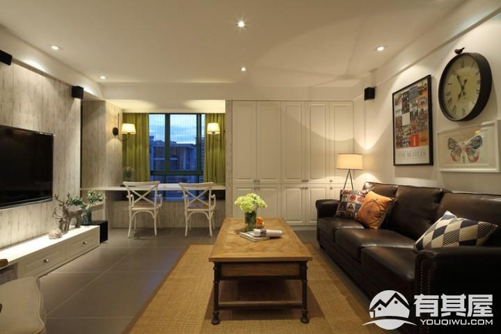 三环新城三室两厅美式装修设计效果图