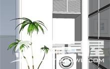 泰景花园三室两厅家装现代简约风格设计效果图欣赏