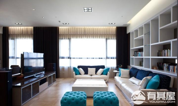 椿树园三室两厅现代简约装修设计效果图欣赏
