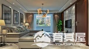 云山诗意三室两厅家装现代简约装修设计效果图欣赏